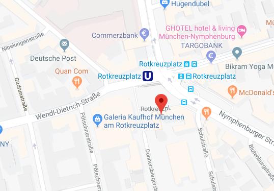 Treffpunkt: Rotkreuzplatz, beim Haupteingang vom Kaufhof